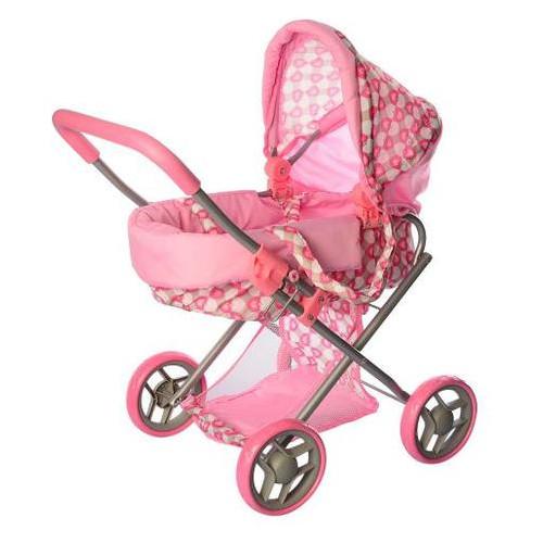 Коляска для кукол Melogo Metr+ 9369 розовая