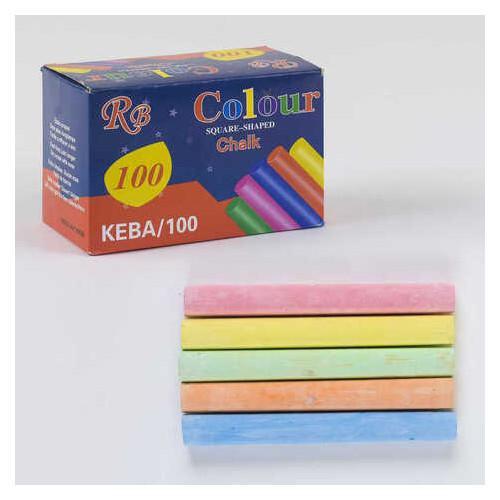 Мел для рисования С 36883 ЦВЕТНОЙ (60) 100шт мелков в коробке, 5 цветов