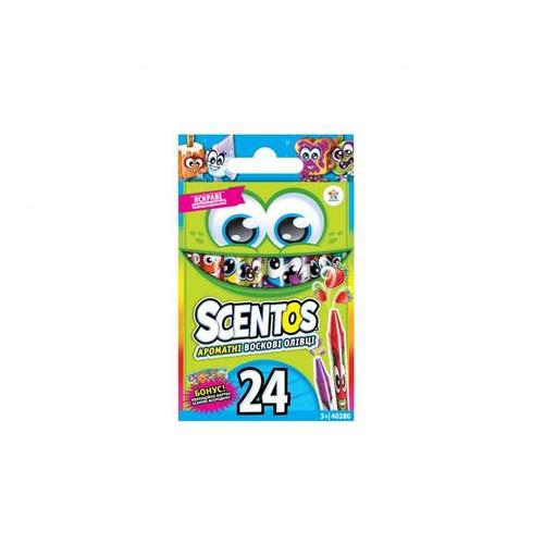 Набор ароматных восковых карандашей Scentos Дружная компания 24 цвета (40280)