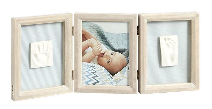 Тройная рамка с отпечатками Baby Art Double Print Frame Stormy (34120173)