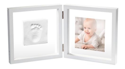Набор для создания отпечатка ручки и ножки малыша Baby Art Двойная рамка Прозрачная с отпечатком (3601095800)
