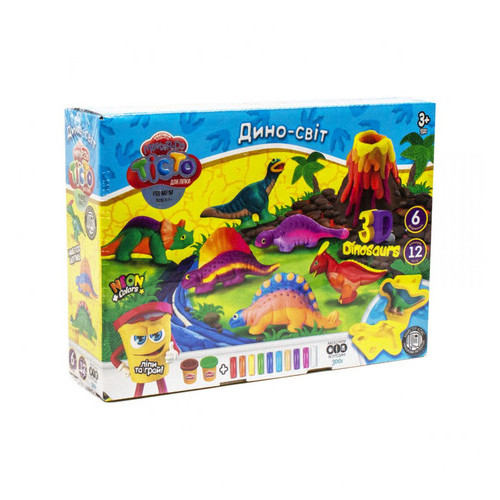 Набор креативного творчества Danko Toys Тесто для лепки Master Do Динозавры-6 укр (TMD-10-04U)