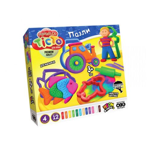 Набор креативного творчества Danko Toys Тесто для лепки Master Do пазлы укр (TMD-11-01U)
