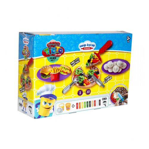 Набор креативного творчества Danko Toys Тесто для лепки Master Do Шеф-повар Пицца средняя укр (TMD-10-01U)