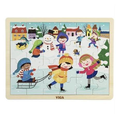 Пазл Viga Toys Времена года. Зима (51272)