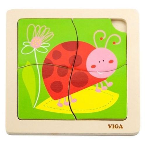 Пазл Viga Toys Божья коровка (50140)
