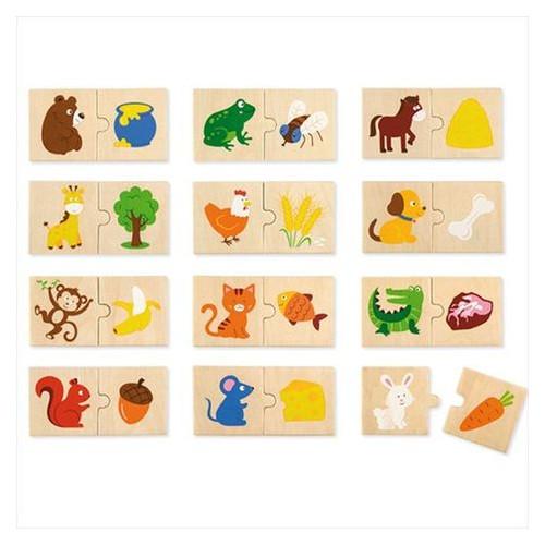 Набор  пазлов Viga Toys Что едят животные (51607)