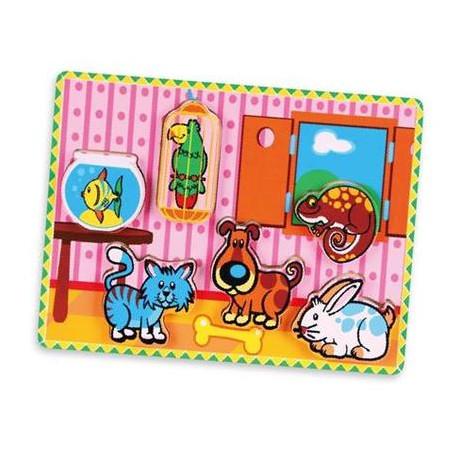 Пазл Viga Toys Домашние животные (56440)