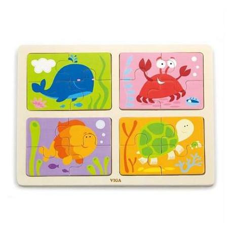 Пазл Viga Toys Море 4-в-1 (50190)
