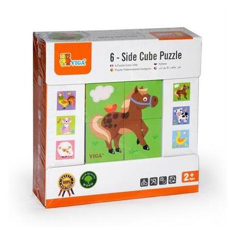Пазл-кубики Viga Toys Ферма (50835)