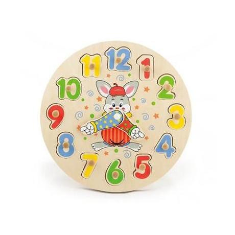 Развивающая игрушка-пазл Viga Toys Часы (56171)