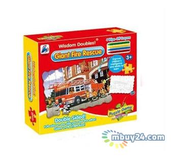 Пазл-раскраска Same Toy Пожарная машина (2038Ut)