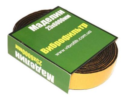 Шумоизоляция Виброфильтр Маделин 25х6000мм (лента)