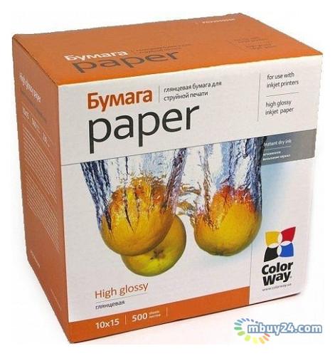 Бумага ColorWay глянцевая, 200 г/м2, 10 x15 см, 500л (PG2005004R)