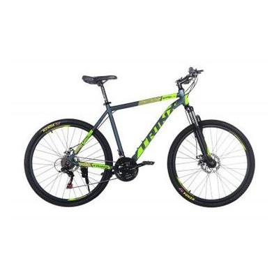 Велосипед Trinx Majestic M116Elite 2019 27.5 21 Matt-Grey-Green-Yellow (M116Elite.21MGGY)