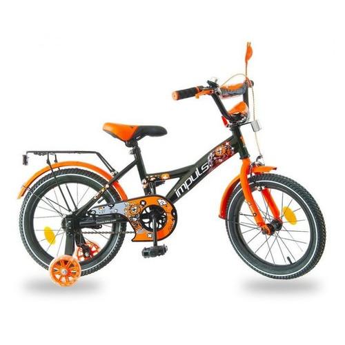 Велосипед Impuls Kids 16 чёрно оранжевый
