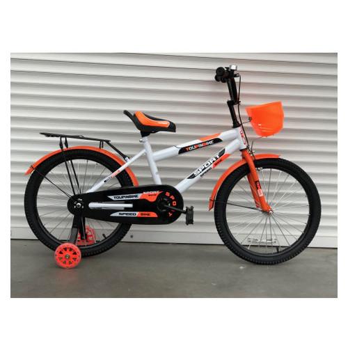 Детский велосипед 804 14 Бело-оранжевый
