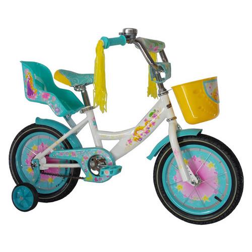 Детский велосипед Azimut Girls 14 Бело-бирюзовый