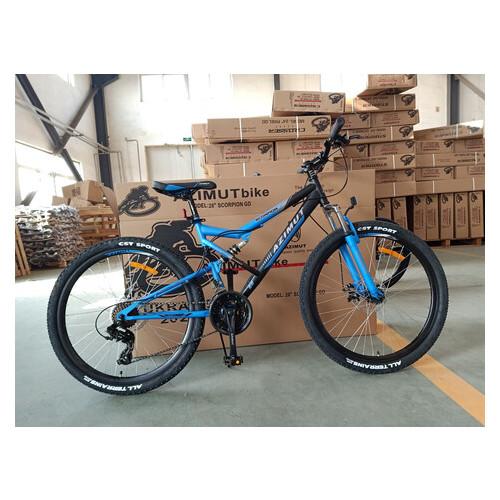 Велосипед Azimut Scorpion 26 D+ Черно-синий