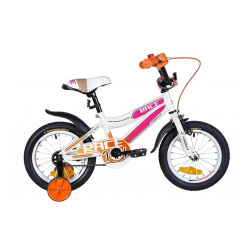 Велосипед ST 14 Formula Race рама-8,5 бело-сиреневый с оранжевым с крылом Pl 2020 (OPS-FRK-14-013)