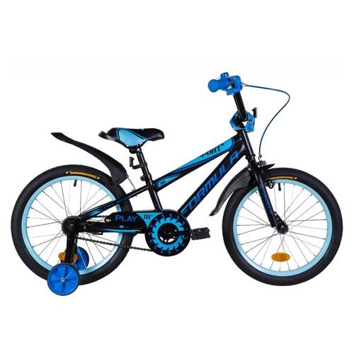 Велосипед 18 Formula Sport 2021 черно-синий с голубым (м) (OPS-FRK-18-082)