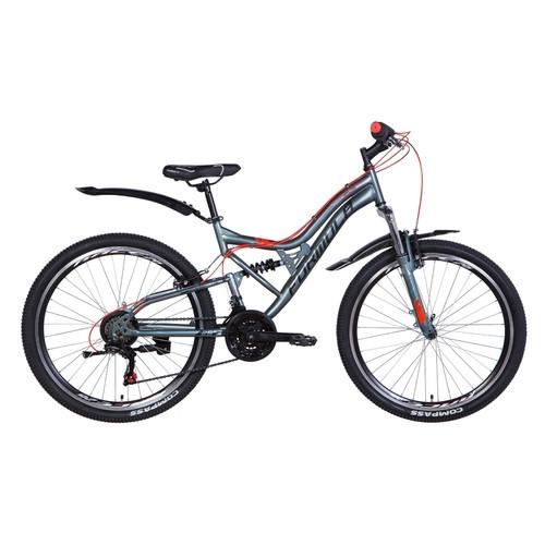 Велосипед 26 Formula ATLAS 2021 антрацитовый с красным (OPS-FR-26-454)