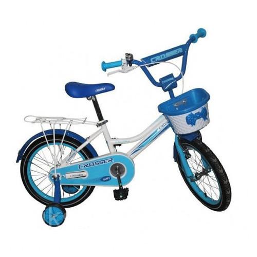 Детский велосипед Crosser Happy 16 Бело-голубой