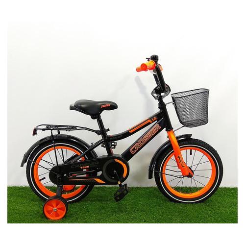 Детский велосипед Crosser Rocky 14 Черно-оранжевый
