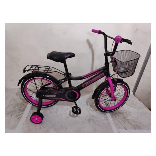 Детский велосипед Crosser Rocky 16 Черно-розовый