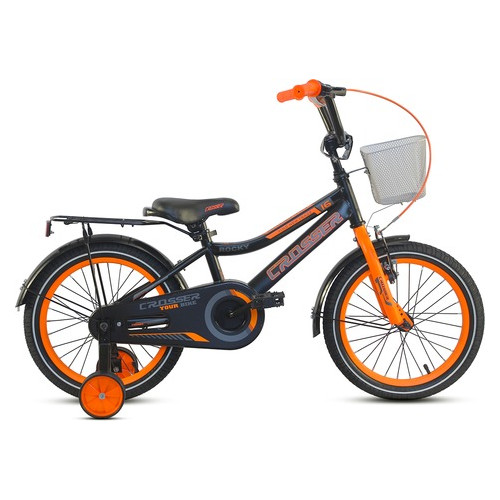 Детский велосипед Crosser Rocky 18 Черно-оранжевый