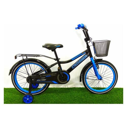 Детский велосипед Crosser Rocky 18 Черно-синий