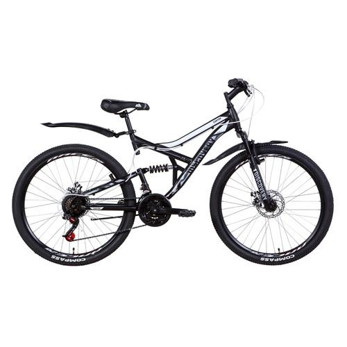 Велосипед 26 Discovery CANYON DD 2021 черно-белый с серым (OPS-DIS-26-351)