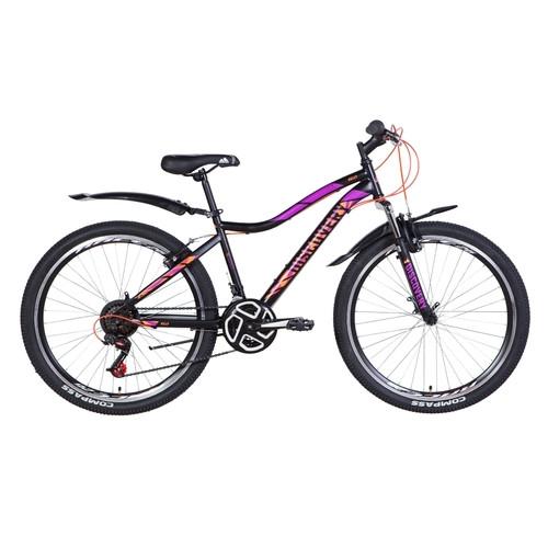 Велосипед 26 Discovery KELLY 2021 черно-оранжево-фиолетовый (OPS-DIS-26-368)