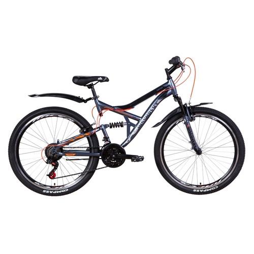 Велосипед 26 Discovery CANYON 2021 графитово-черный с оранжевым (OPS-DIS-26-349)