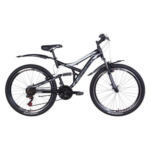 Велосипед 26 Discovery CANYON 2021 черно-белый с серым (OPS-DIS-26-347)