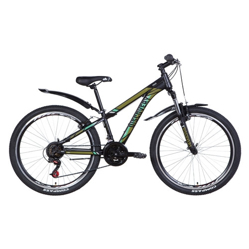 Велосипед 26 Discovery TREK 2021 черно-бирюзовый (OPS-DIS-26-379)