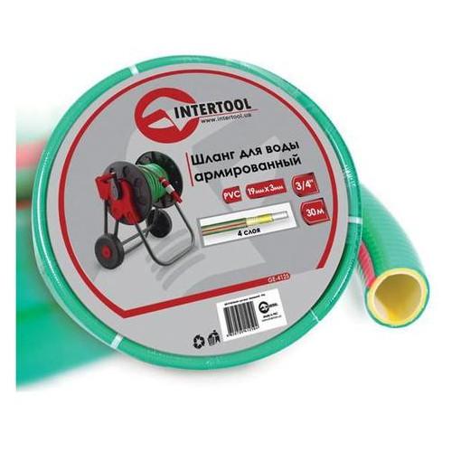 Шланг поливочный Intertool 3/4 х 30 м Салатовый 4 слойный (GE-4125)