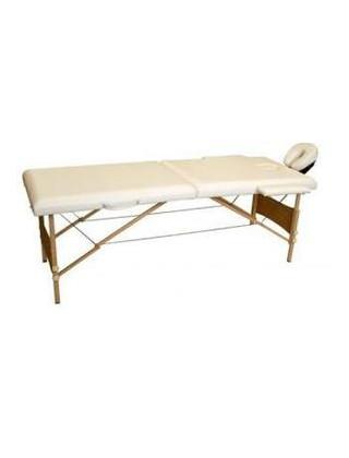 Массажный стол 2-х секционный HouseFit HY-20110 (дерев. рама)