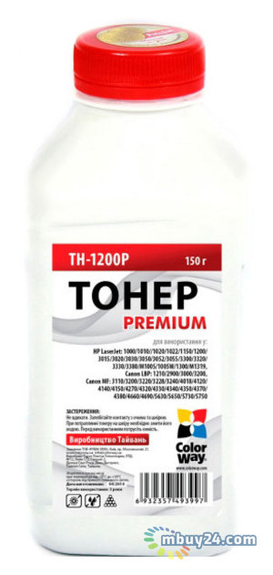 Тонер Colorway Premium HP LJ 1200 (150 г) (TH-1200P)
