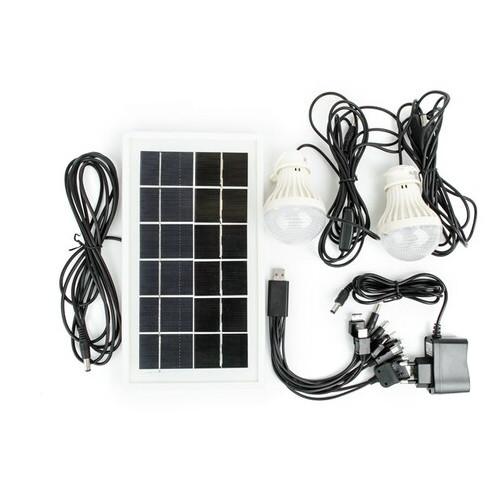 Фонарь аккумуляторный Intertool 1LED 5W+22 SMD выносная солнечная панель выносные 2 led лампы кабель для зарядки телефона-планшета LB-0105