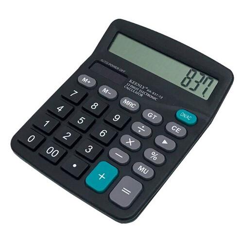 Калькулятор обычный Keenly KK 837-12 настольный черный (ZE35iz12447)