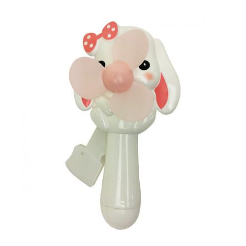 Детский ручной вентилятор Metr+ Зайчик белый (MK 4552)