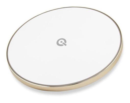 Беспроводная зарядка Qitech Slim Pad Gen 2 с поддержкой fast charge золотистый