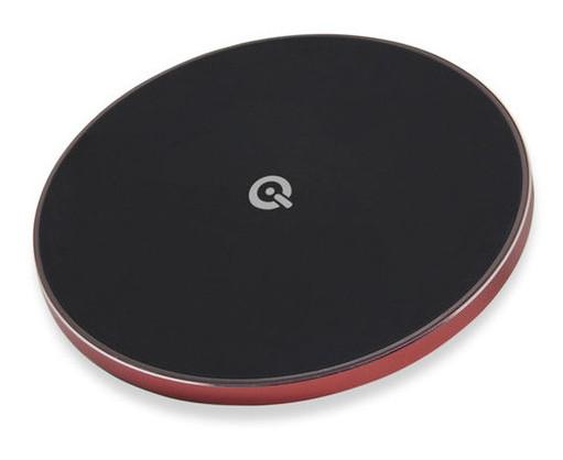 Беспроводная зарядка Qitech Slim Pad Gen 2 с поддержкой fast charge красный