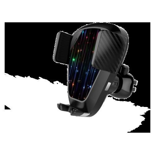 Беспроводное автомобильное зарядное устройство Qitech Sensor Auto V7 2в1 2 варианта крепления черное