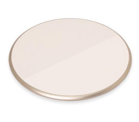 Беспроводное зарядное устройство Qitech Slim Pad Premium Glass с технологией QI Золотистое