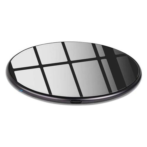 Беспроводное зарядное устройство Qitech Slim Pad Premium Glass с технологией QI Черное