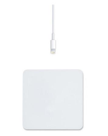Беспроводное зарядное устройство Qitech White Pad Premium Glass A12 с технологией QI Серебристое