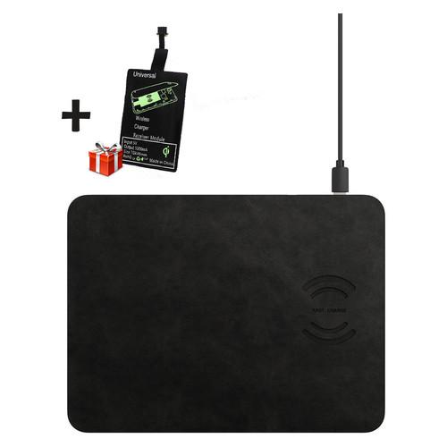 Беспроводное зарядное устройство (коврик для мыши) Jetix MousePad 3 Black + Qi-ресивер в подарок