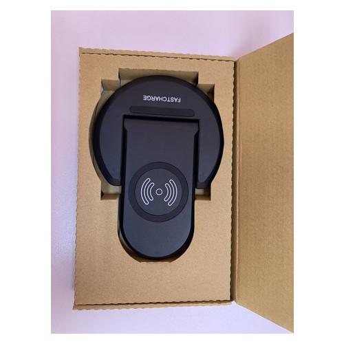Беспроводное зарядное устройство подставка для телефона UTG-T U08 с технологией QI Черное (934713)